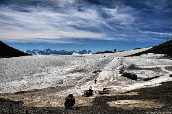 On a marché sur le glacier