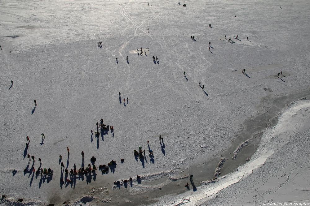 Sur le lac gelé