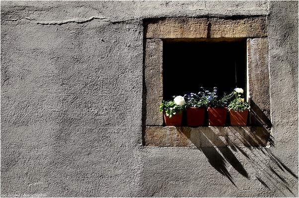 Sur le rebord de la fenêtre
