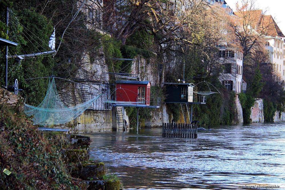 Les carrelets sur le Rhin