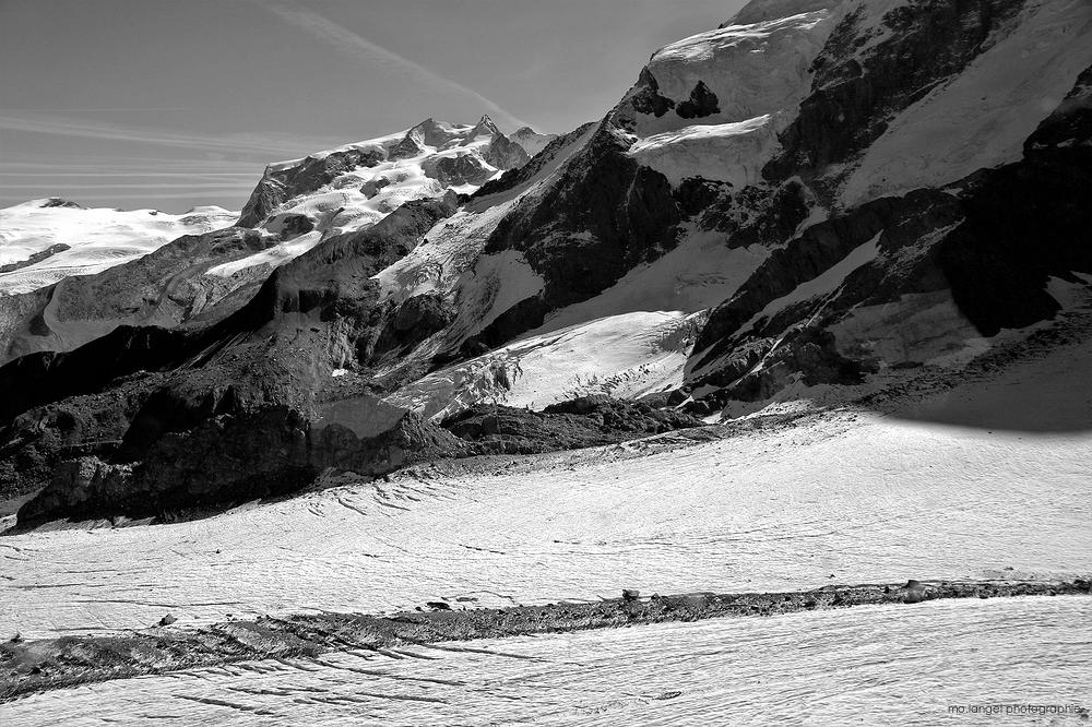 Au-dessus du glacier