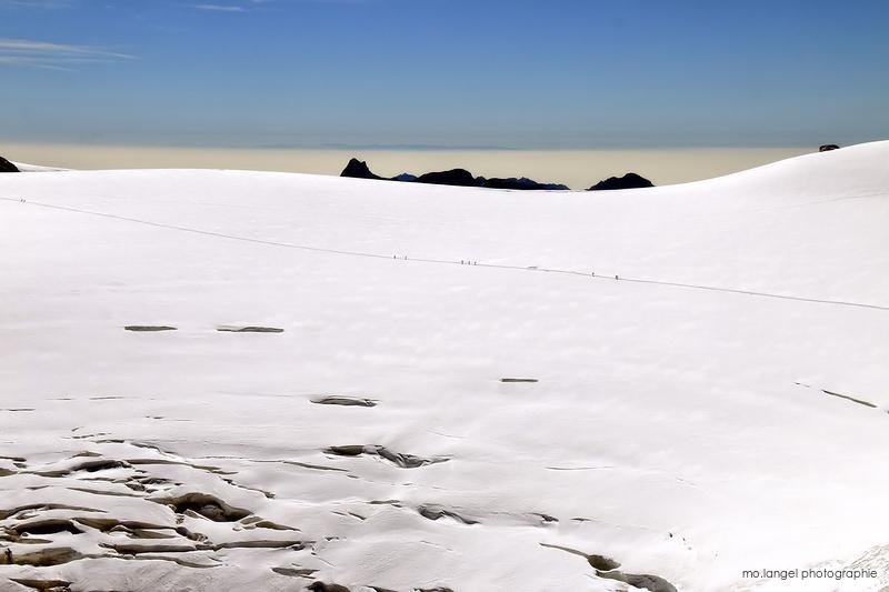 Marche sur le glacier