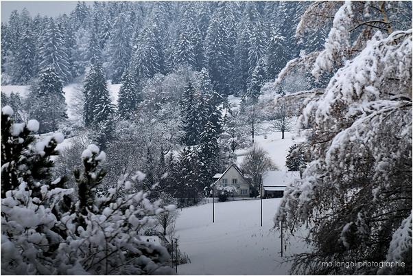 La maison sous la neige!
