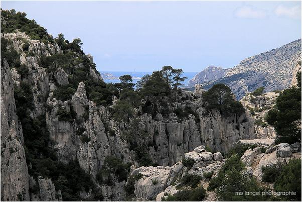 Sur les rochers