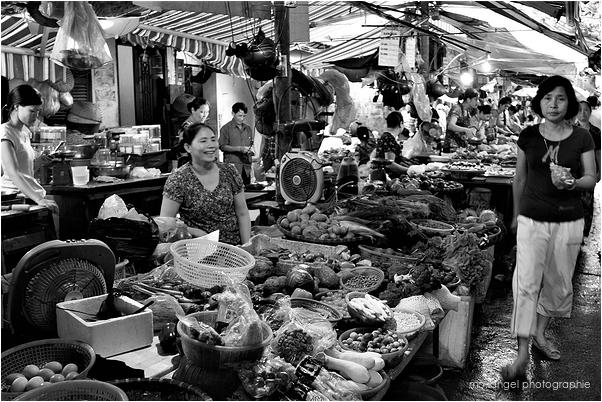 Le marché d'Hanoï