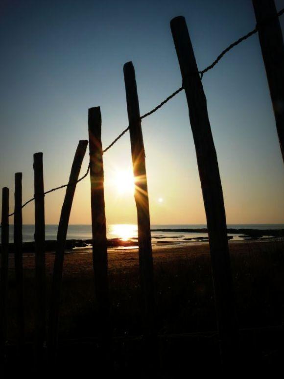 à travers les dunes...