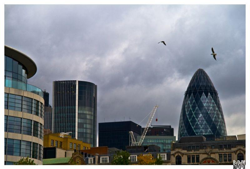 Dans les rues de Londres, octobre 2008