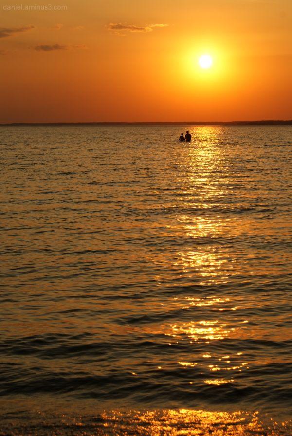 Sunset, Śniardwy lake.