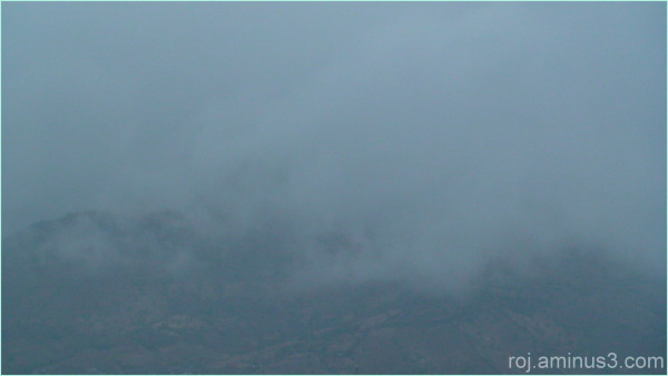 Arbeba(one of the Bane moutains)in fog