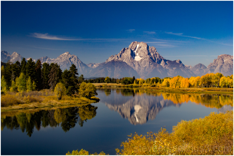 Grand tetons in the USA