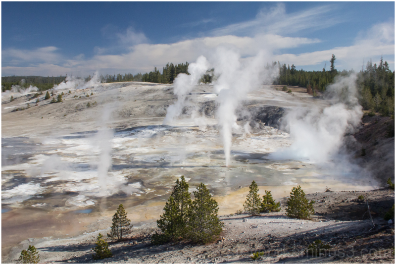 Geyers in Yellowstone