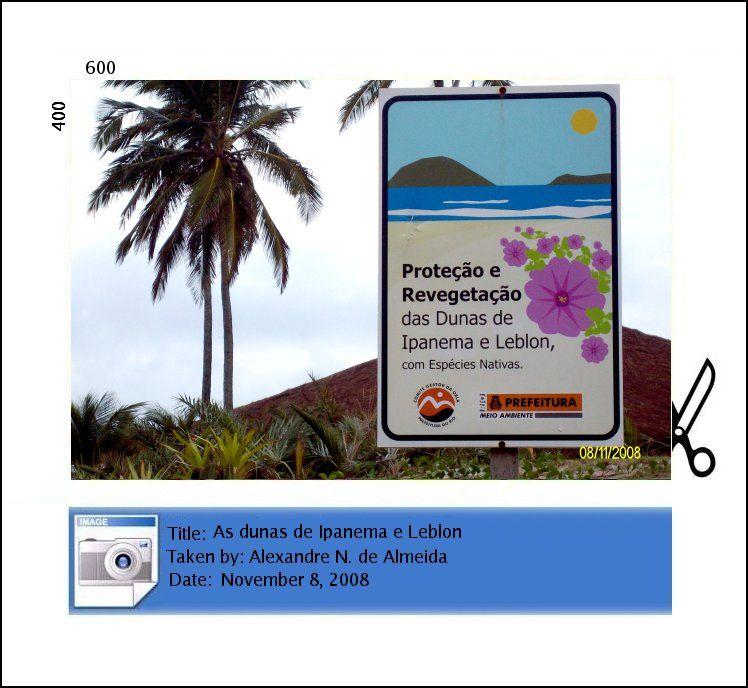 placa praia ipanema beach
