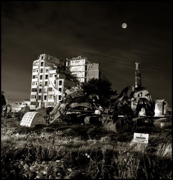 Dublin by night Ballymun