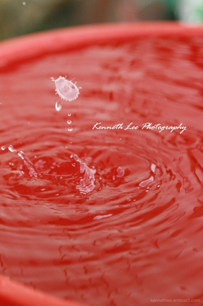 Moment Of Water Drops