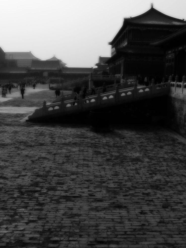 courtyard, forbidden city ,beijing, china,