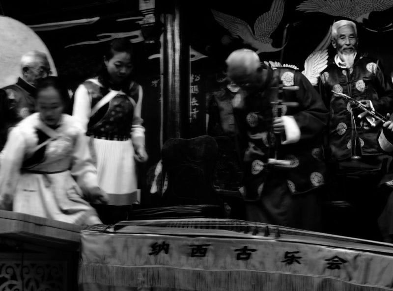 naxi mucians in Lijiang