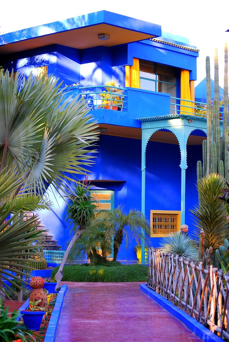 Villa majorelle architecture photos anouk 39 s photos for Jardin yves saint laurent maroc