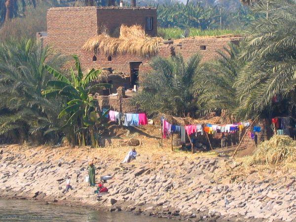 Village au bord du Nil