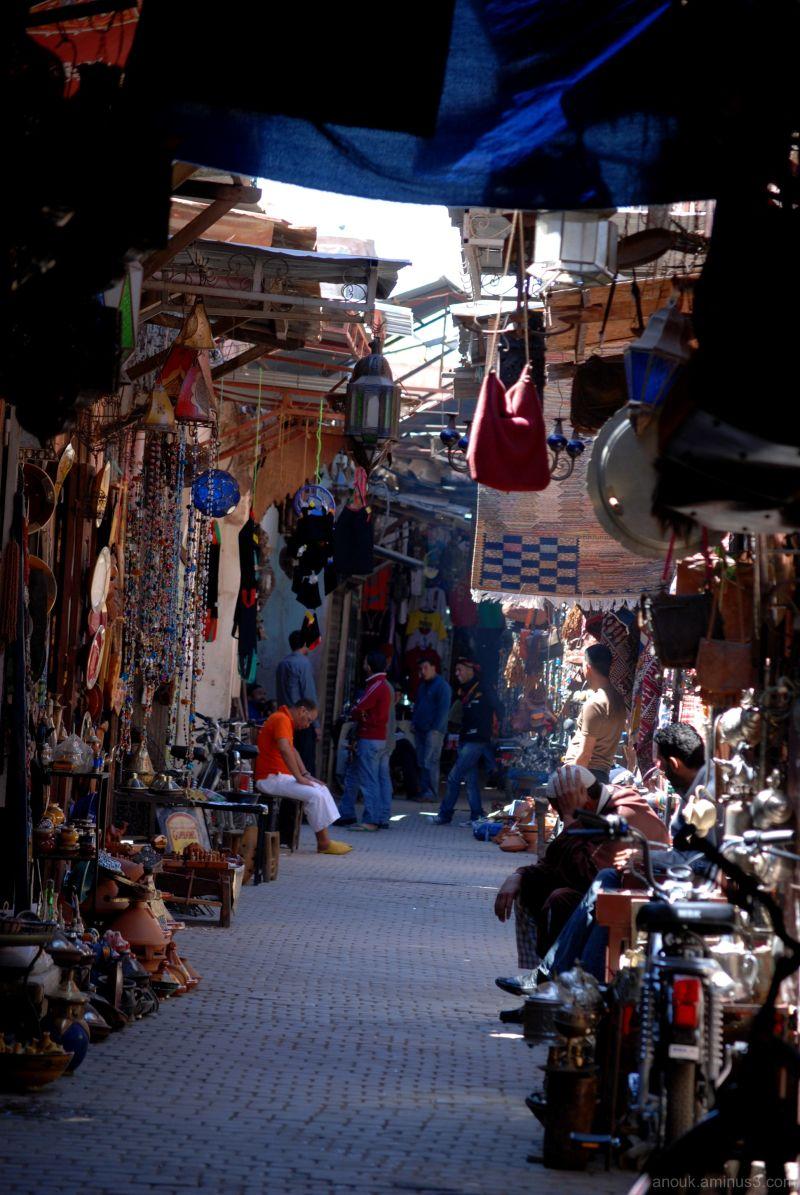 Dans le souk de Marrakech