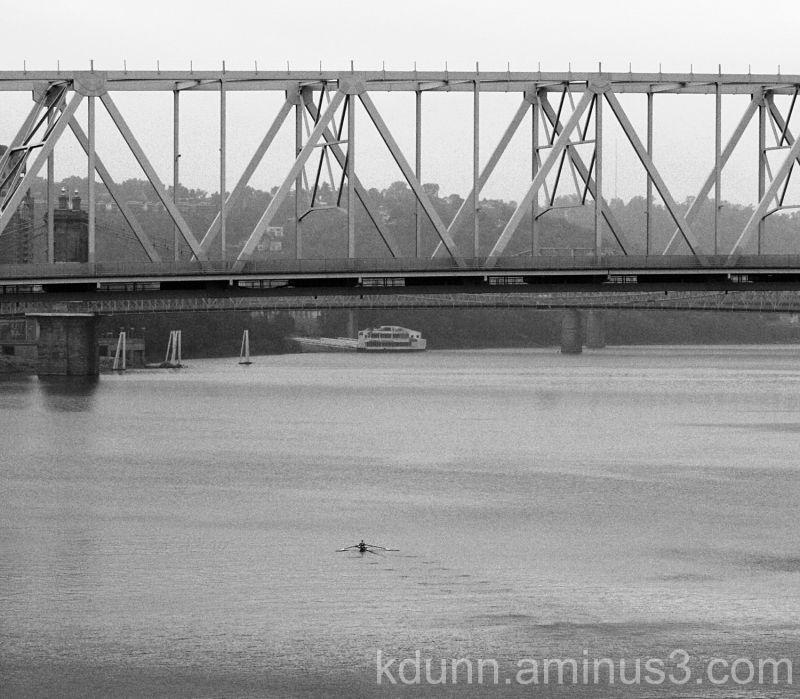 Kayaking on the Ohio River.