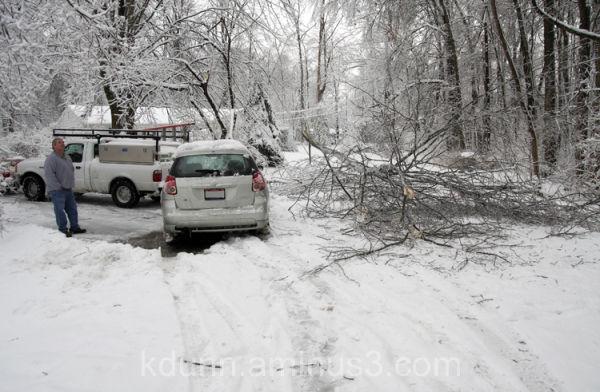 Snow and ice storm in Ohio