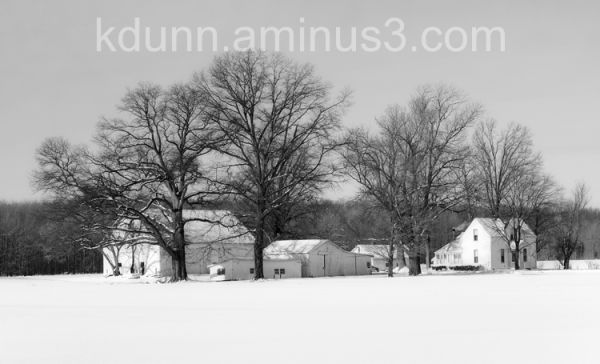Clermont County farm during winter.