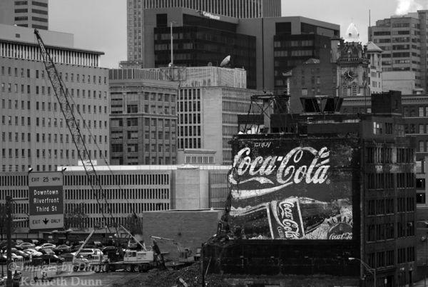 "Cincinnati's ""Coke building"" falls."