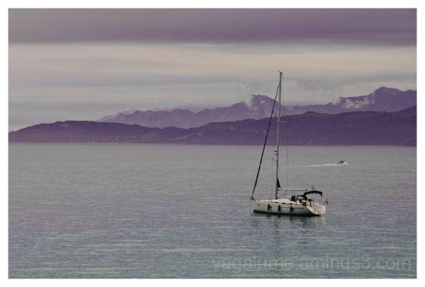 montaña horizonte niebla