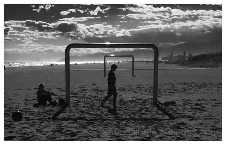Playa y futbol