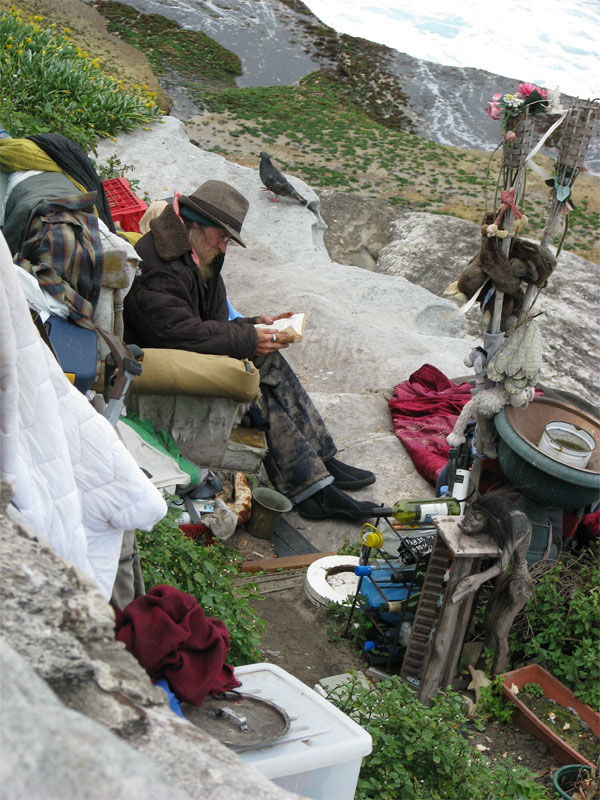 Homeless man at Bondi