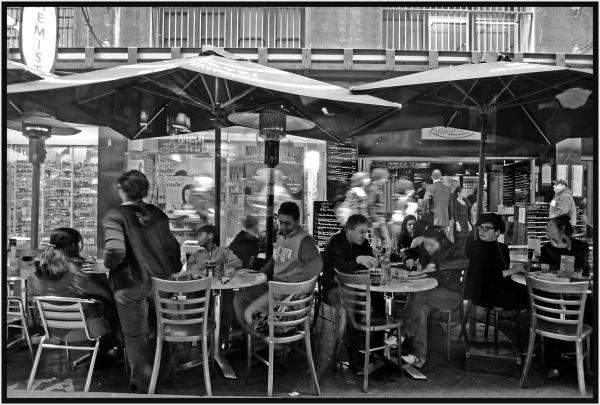 Melbourne side walk cafe