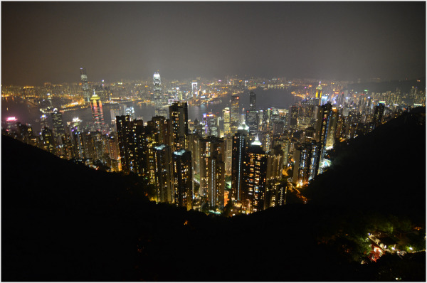 Hong Kong Night Scene at the Peak