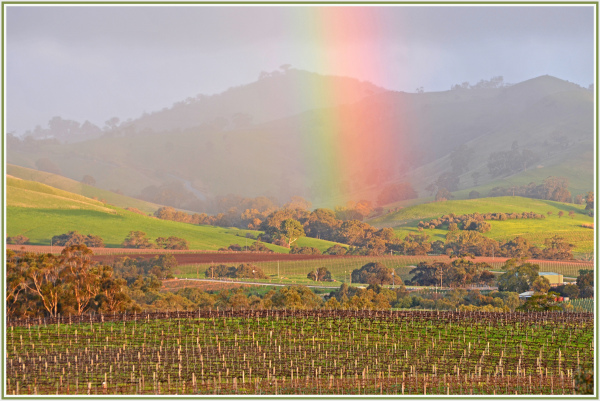 Rainbow in Barossa Valley