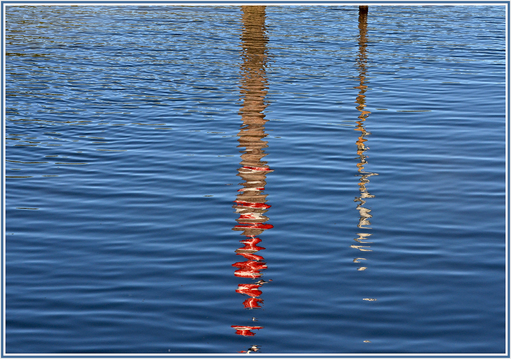 Reflections of two signposts