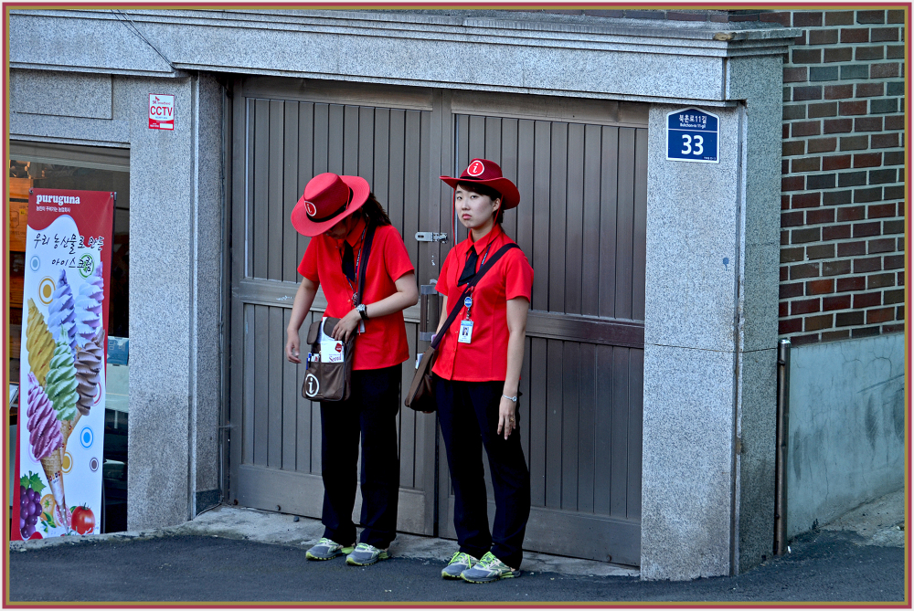 tourist information workers in Seoul