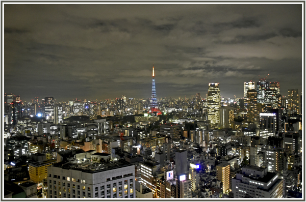 Tokyo tower in the evening
