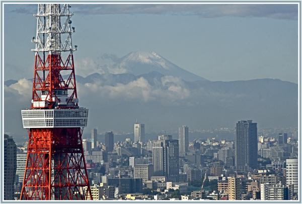 Tokyo Tower and Mt Fuji
