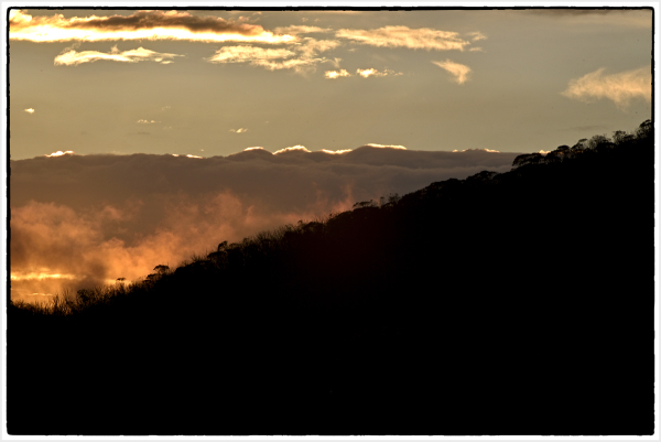 Sunset in Snowy Mountains Thredbo NSW