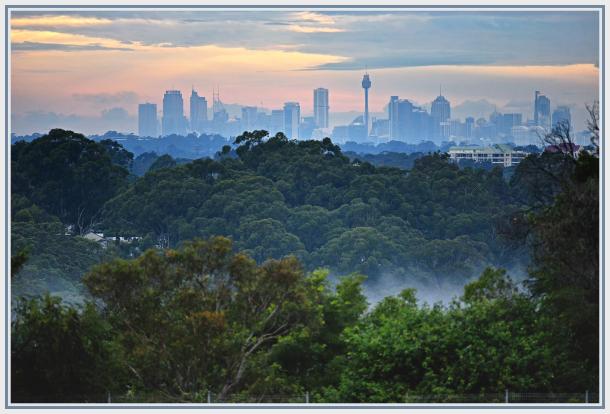 Sydney sunset on a rainy day