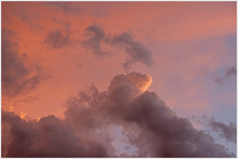 Cloud in sunset