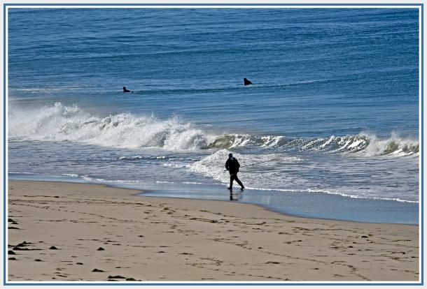 Fisherman against waves 2