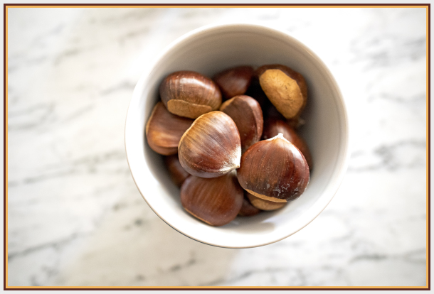 Chestnut in a bowl