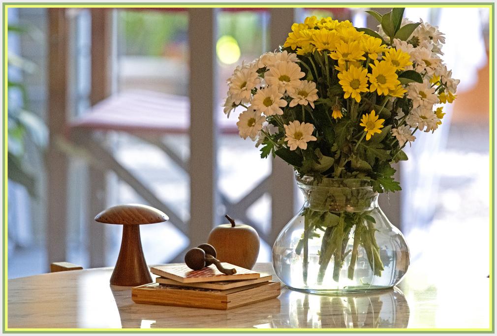 Vase on coffee table