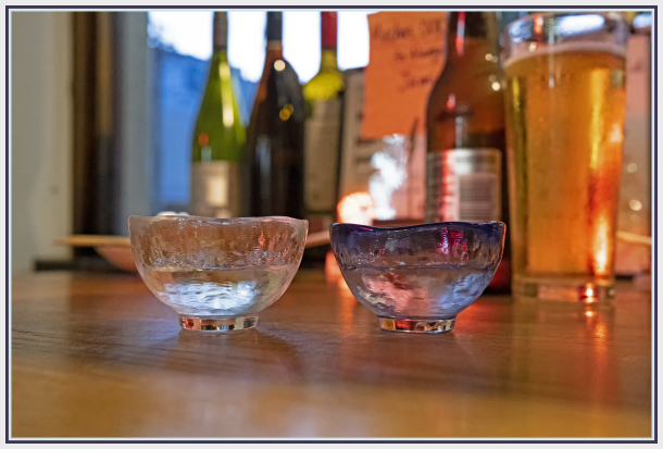 two glasses of sake