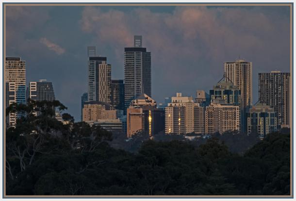 sunset Chatswood telephoto
