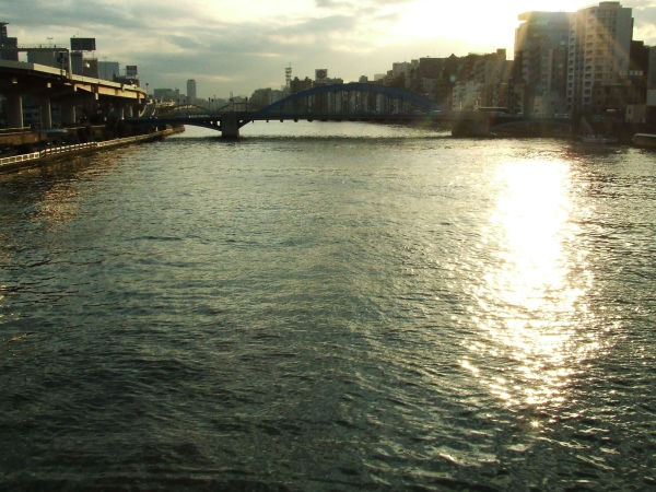 dusk of river