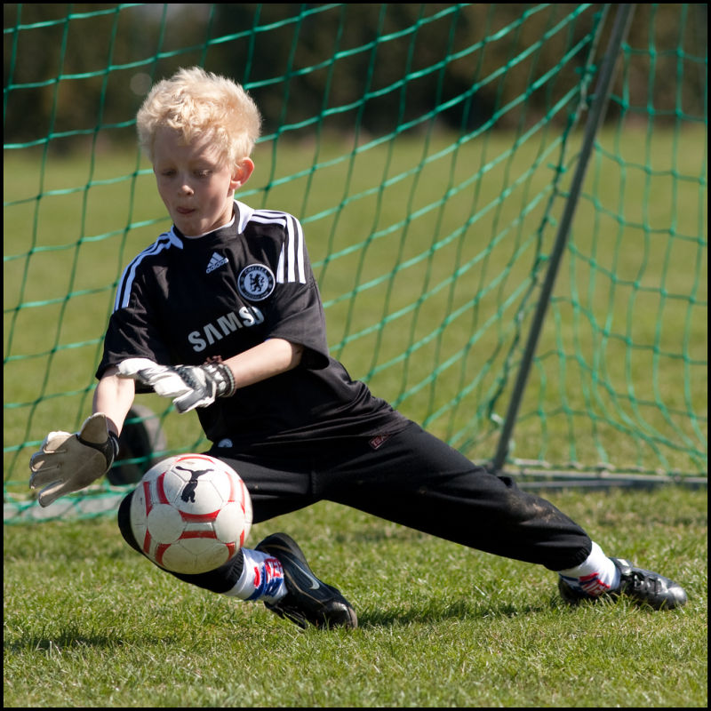 Little goalkeeper