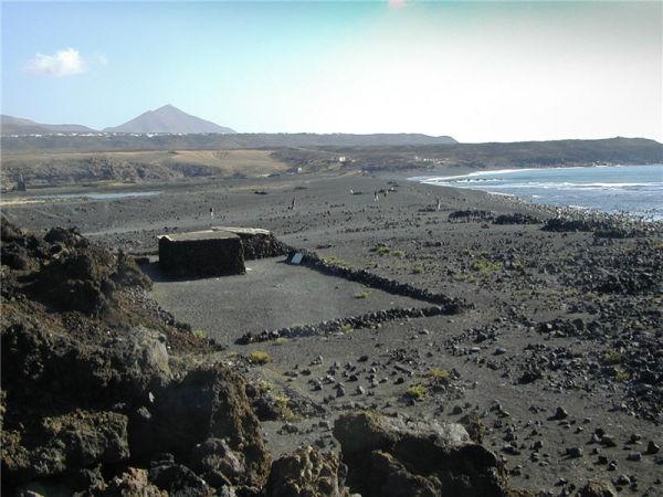 Farm in volcanic ash