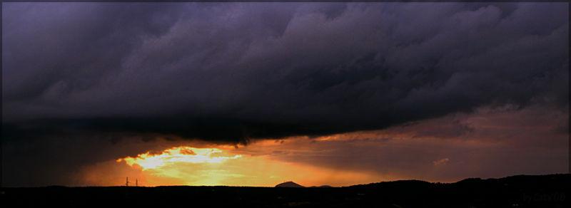 menorca, tormenta, monte toro