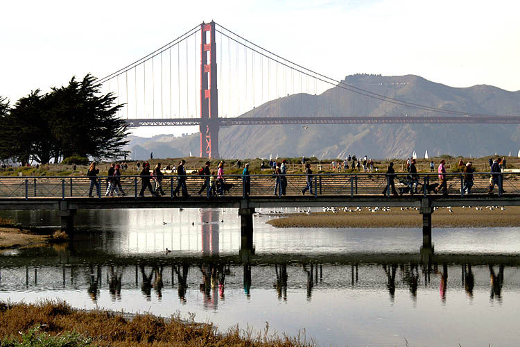 Bridge over Crissy Field Lagoon